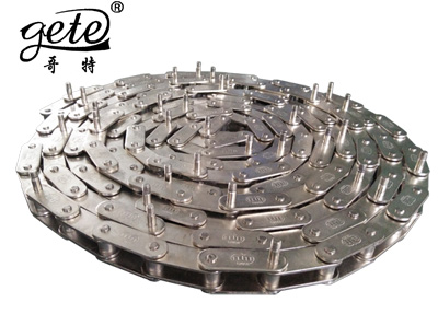 Nickel plated double pitch conveyor chain C2052-D13.6-M6